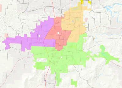 Fayetteville Ward Boundaries